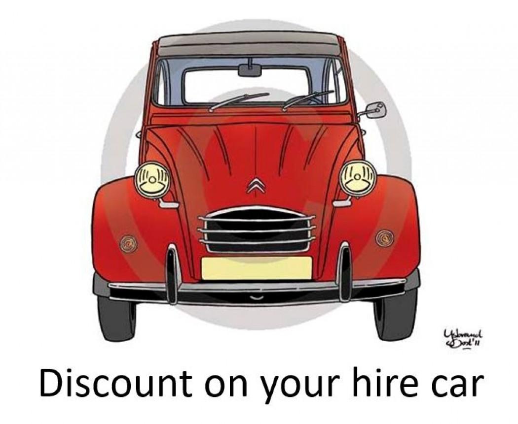 Hire Car - Exclusive discount for Dordogne Secrets users.